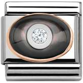 Nomination Couture Rose Gold Black CZ Dome Classic Charm 430504/03