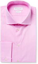 Richard James - Pink Cutaway-collar Cotton-poplin Shirt