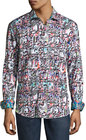 robert graham molten metal woven buttonfront shirt multi