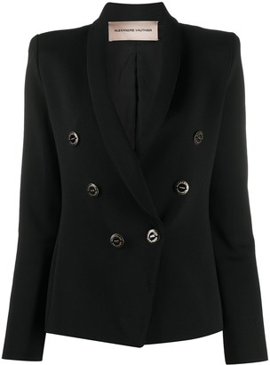 Alexandre Vauthier Double-Breasted Crepe Blazer