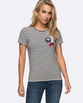 Roxy Womens Taffy Crab Patches T Shirt