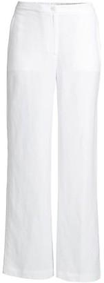 Eileen Fisher Linen-Blend Straight Pants
