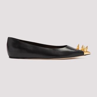 Alexander McQueen Spike Stud-Detailed Ballerina Shoes