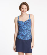 L.L. Bean Slimming Swimwear, Tankini Top Print