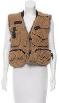 Dolce & Gabbana Fur Lined Corduroy Vest