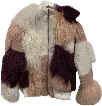 Camilla Multicolour Shearling Coat for Women