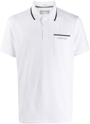 Calvin Klein Logo Short-Sleeve Polo Shirt