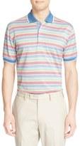 Paul & Shark Men's Stripe Pique Cotton Polo