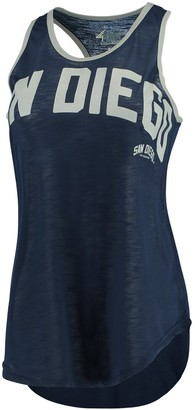 Game Time G Iii Women's G-III 4Her by Carl Banks Navy/Silver San Diego Padres Tank Top