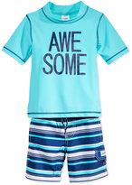 Carter's 2-Pc. Awesome Rashguard & Swim Trunks Set, Toddler & Little Boys (2T-7)