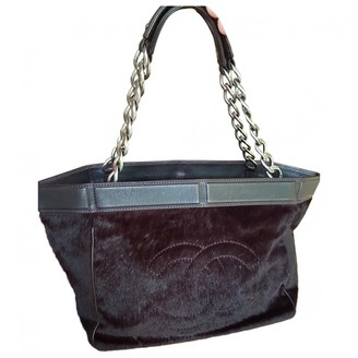 Chanel Purple Pony-style calfskin Handbags