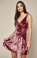 La Hearts Velvet Tie Strap Dress