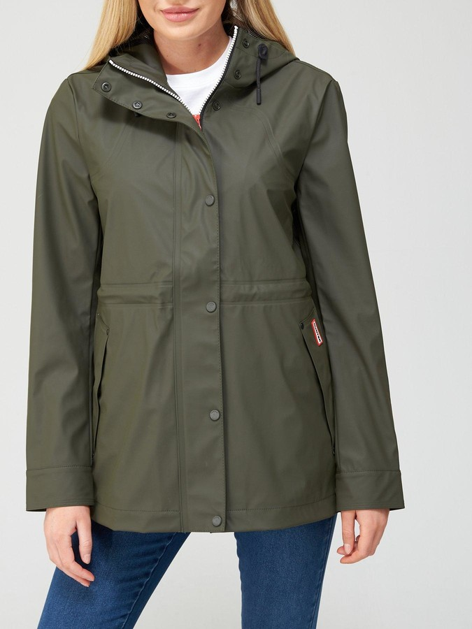 Thumbnail for your product : Hunter Original Lightweight Rubberised Jacket -Olive