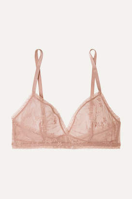 Eres Bang Stretch-lace Soft-cup Triangle Bra - Antique rose