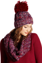 David & Young Marled Beanie & Infinity Scarf Set