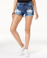 Bravado Justin Bieber Purpose Tour Juniors' Distressed Denim Shorts