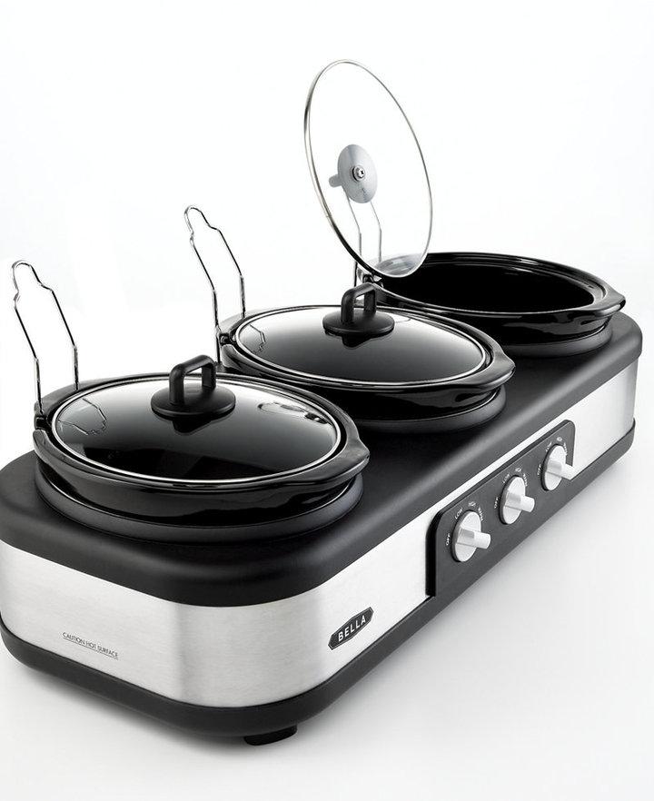 Bella 13576 3 X 2.5 Qt. Triple Slow Cooker with Lid Rests
