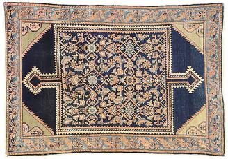 "One Kings Lane Vintage Antique Persian Malayer Rug - 4'5"" x 6'4"" - Esmaili Rugs & Antiques - peach/navy/tan/beige"