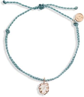 Pura Vida Palm Tree Charm Braided Bracelet