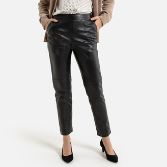 """Anne Weyburn Leather Ankle Grazer Trousers, Length 26.5"""""""