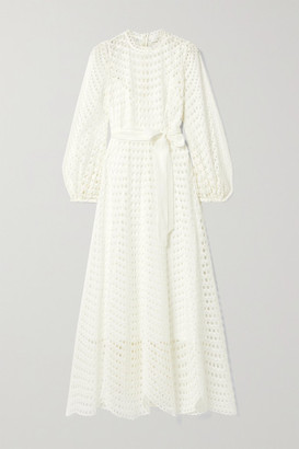 Zimmermann Poppy Broderie Anglaise Voile Maxi Dress - Ivory