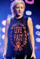 Wildfox Couture Live Fast Cutoff Trailer Tank In Black
