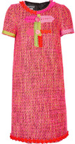 Moschino Embellished Tweed Mini Dress - Pink