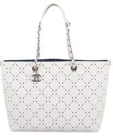 Chanel 2017 Perforated CC Shopper Tote