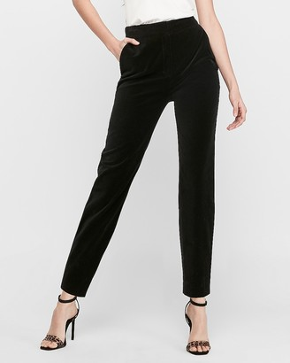 Express X Karla High Waisted Fitted Velvet Pant