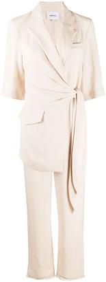 Nanushka Astero wrap front jumpsuit