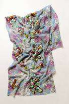 Anthropologie Brunia Embroidered Scarf