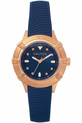 Nautica Womens Analogue Quartz Watch with Rubber Strap NAPCPR002