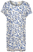 Fat Face Natalie Songbirds Longline T-Shirt, Ivory