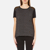 Maison Scotch Women's Relaxed Fit Linen Short Sleeve TShirt - Black