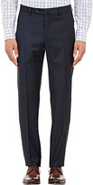 Incotex Men's B-Body Classic-Fit Wool Trousers-NAVY