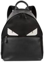 Fendi Monster Black Leather Backpack