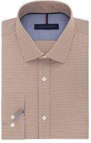 Tommy Hilfiger Men's Non Iron Slim Fit Gingham Spread Collar Dress Shirt