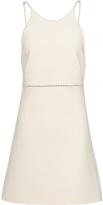 Miu Miu Pearl-Embellished Mini Dress