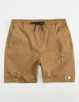 Mens Elastic Waist Khaki Shorts - ShopStyle