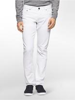 Calvin Klein Slim Straight Leg Alberta White Wash Jeans