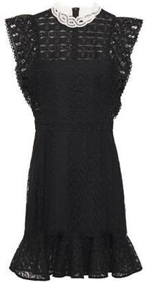 Sandro France Ruffled Guipure Lace Mini Dress