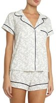Eberjey Sleep Chic Short Pajama Set, Midnight Blossom