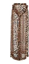Rodarte Leopard Print Silk Pant