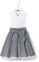 Lapin House - checked skirt dress - kids - Cotton/Polyamide - 4 yrs