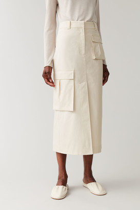 Cos Cotton Skirt With Patch Pockets