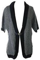 Calvin Klein Women's Short Sleeve Sweater Cardigan with Buckle
