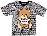 Moschino Logo Printed Cotton Jersey Maxi T-Shirt
