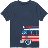 Americana Instant Message Tee Shirts NAVY - Navy Surf Van Side-Hit Tee - Toddler & Kids