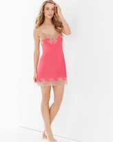 Soma Intimates Slinky Lace Sleep Chemise Coral With Cafe Lace