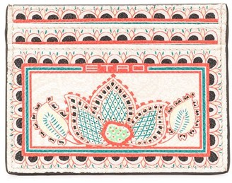Etro floral-print branded cardholder